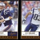 TOM BRADY 2012 Panini Absolute #34 + WES WELKER #36.  PATRIOTS