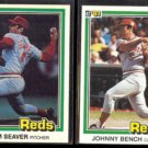TOM SEAVER #425 + JOHNNY BENCH #182 (1981 Donruss).  REDS
