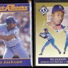 BO JACKSON 1990 JBC Collect A Book + 1991 Fleer Ultra Team Insert.  ROYALS
