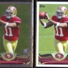QUINTON PATTON 2013 Topps Chrome Rookie w/ Topps sister card.  49ers