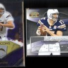 PHILIP RIVERS (2) #'d Inserts - 2008 UD Icons + 2009 Donruss Gridiron Gear.  CHARGERS