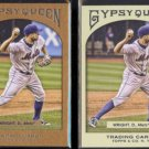 DAVID WRIGHT 2011 Topps Gypsy Queen #'d Insert 866/999 w/ sister.  METS