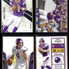BRETT FAVRE (4) Card 2010 VIKINGS Lot.  Panini + Topps