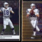 PEYTON MANNING 1999 Bowman Best #70 + 2009 Topps Finest #60.  COLTS