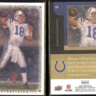 PEYTON MANNING (2) 2008 Upper Deck Masterpieces #68.  COLTS