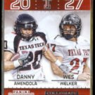AMENDOLA + WELKER 2015 Panini Contenders Collegiate Connections #19.  RED RAIDERS