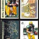 BRETT FAVRE (4) Card PACKERS Lot (1996, 2004 - 2008).