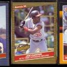 JOE CARTER (3) Card INDIANS Lot (1986 + 1988) Donruss.