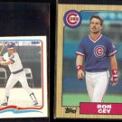 RON CEY 1984 Fleer mini Sticker #19 + 1987 Topps #767.  CUBS