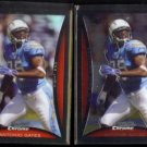 ANTONIO GATES 2008 Bowman Chrome Refractor + sister #BC212.  CHARGERS