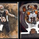 A. J. GREEN 2014 Topps Inception #1 + 2014 Panini Crown Royale #14.  BENGALS