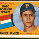 MANUEL JAVIER 1960 Topps Rookie Star #133.  PIRATES