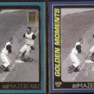 BILL MAZEROSKI 2000 Topps Golden Moments Gold + sister Cards.  PIRATES