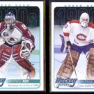 PARTICK ROY (2) 2013 UD Heroes Inserts #HH59 + #HH48.  AVALANCHE / CANADIENS