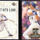 ROBIN YOUNT 1992 UD 3000 Hits Insert w/ BRETT + 1993 Leaf Heading to the Hall.