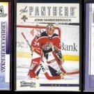 JOHN VANBIESBROUCK (3) Card Lot (1997, 2000 + 2012)  RANGERS / PANTHERS