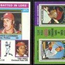 JOHNNY BENCH 1976 Topps RBI ldrs. + 1975 MVP.  REDS