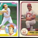 JOHNNY BENCH  1983 Topps #60 + 1981 Fleer #196.  REDS