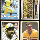WILLIE STARGELL (4) Card (Low to Mid-Grade) Lot (1978 - 1981)  PIRATES