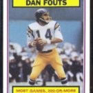 DAN FOUTS 1983 Topps Record Breaker #3.  CHARGERS