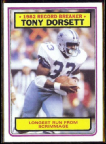 TONY DORSETT 1983 Topps Record Breaker #2.  COWBOYS