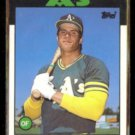JOSE CANSECO 1986 Topps Traded #20T.  A's