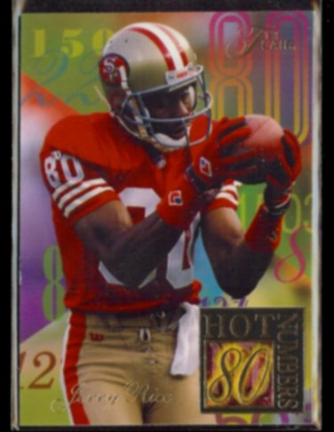 JERRY RICE 1994 Flair Hot Numbers Insert #9 of 15.  49ers