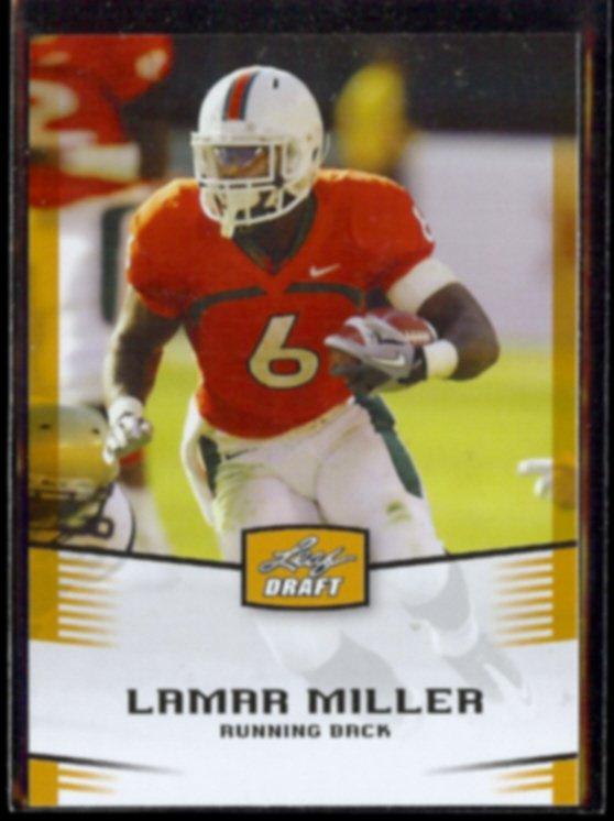 LAMAR MILLER 2012 Leaf Draft #28.  MIAMI