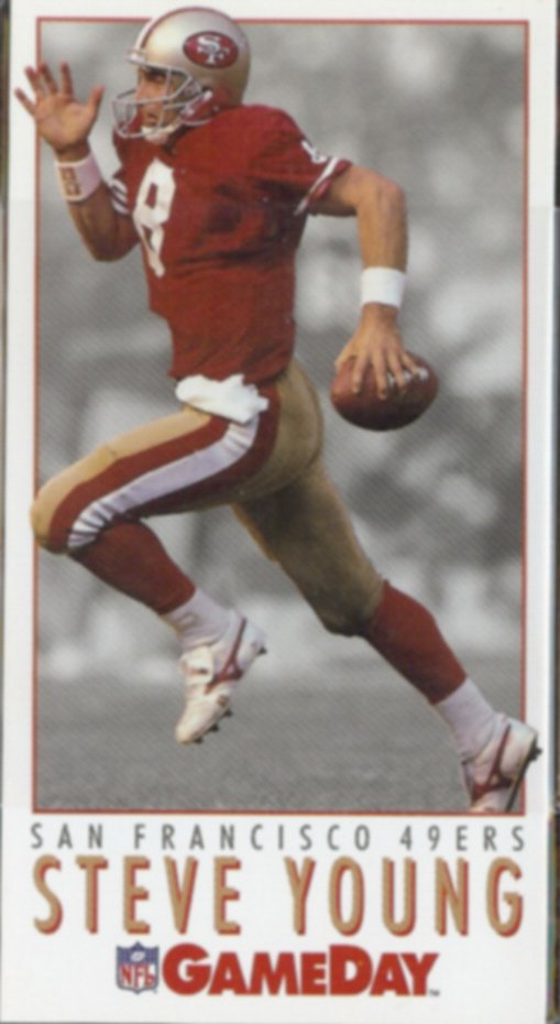 STEVE YOUNG 1992 Fleer Game Day #220.  49ers