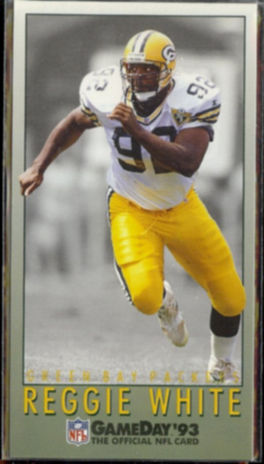 REGGIE WHITE 1993 Fleer Game Day #441.  PACKERS