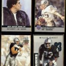 RAIDERS (4) Card Lot (1990 + 1992) w/ Long, Plunkett, Biletnikoff+