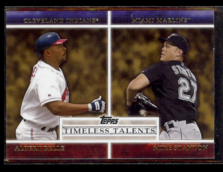 ALBERT BELLE 2012 Topps Timeless Talents Insert #TT-18 w/ Mike Stanton.  INDIANS
