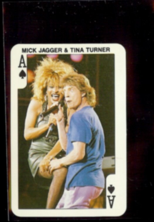 MICK JAGGER + TINA TURNER (A of Spades) Dandy Rock n Bubble
