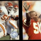 DERRICK THOMAS 1991 Pro Set Platinum #51 + #147.  CHIEFS