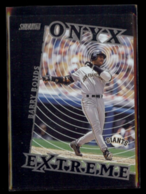 BARRY BONDS 2000 Stadium Club ONYX Extreme Insert #OE5.  GIANTS