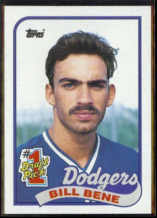 BILLY BENE 1989 Topps #1 Draft Pick #84.  DODGERS