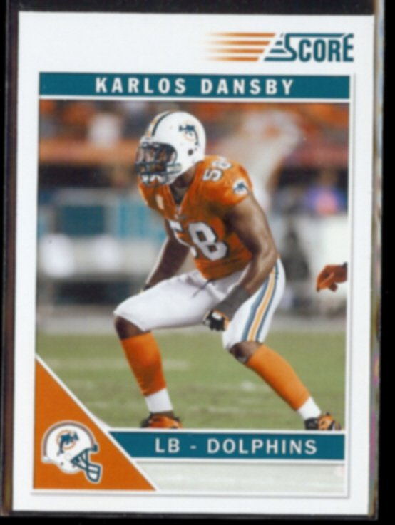 KARLOS DANSBY 2011 Score Rookie #156.  DOLPHINS