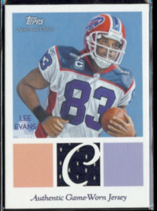 LEE EVANS 2009 Topps National Chicle JERSEY #NCR-LE.  BILLS - Thick Stock