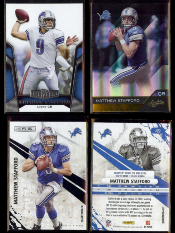 MATTHEW STAFFORD (4) Card Lot (2010 + 2011)  LIONS