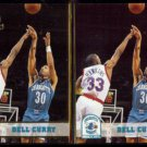 DELL CURRY 1993 Hoops Gold Insert #19 w/ sister.  HORNETS