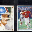 JOHN ELWAY 1987 Topps mini Sticker #174 + 1985 Topps mini Sticker #24.  BRONCOS