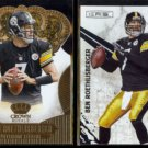 BEN ROETHLISBERGER 2013 Panini Crown Royale Gold + 2010 Panini R&S.  STEELERS