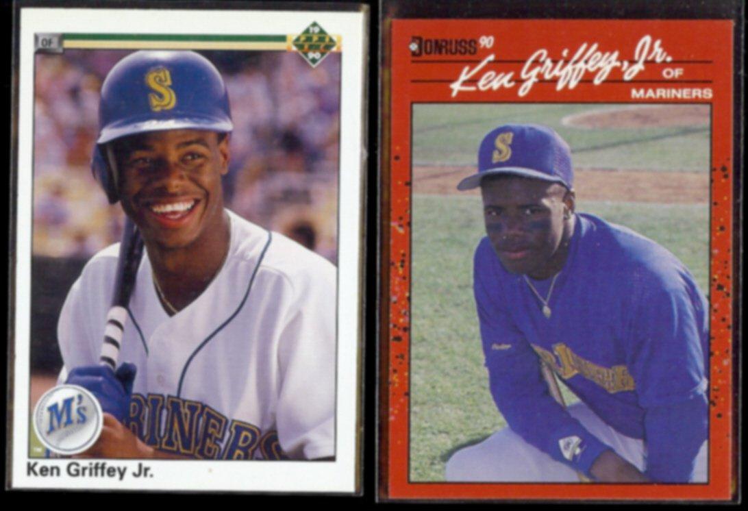 KEN GRIFFEY Jr. 1990 Upper Deck #156 + 1990 Donruss #365.  MARINERS