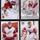 DOMINIK HASEK (4) Card Lot (2006 - 2008).   RED WINGS.