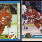 STEVE YZERMAN 1989 Topps #83 + 1991 Stadium Club #81.  RED WINGS