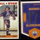JARI KURRI 1985 Topps All Star Sticker #3;  2012 Panini Classics Banner #EN34.  OILERS