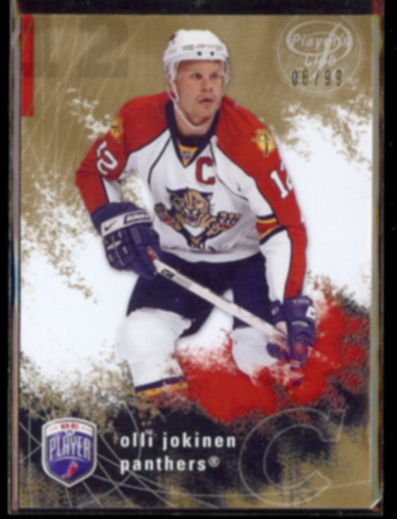 OLLI JOKINEN 2007 UD Be A Player #'d Insert 08/99.  PANTHERS