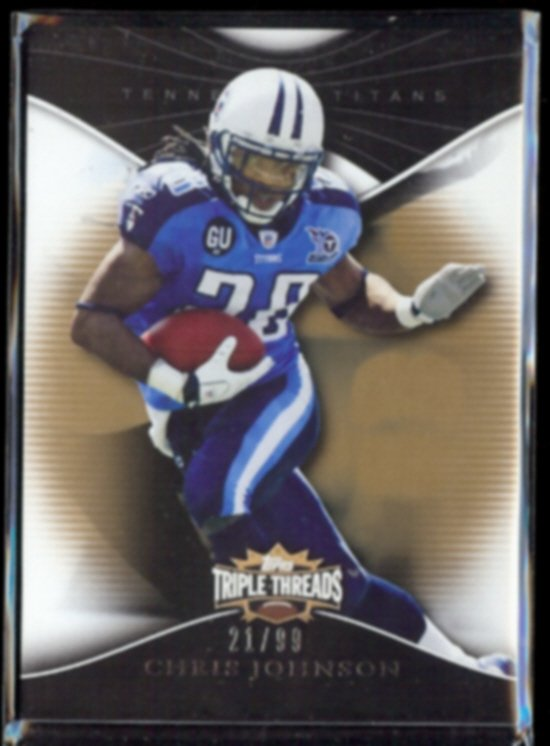 CHRIS JOHNSON 2009 Topps Triple Threads #'d Insert 21/99.  TITANS