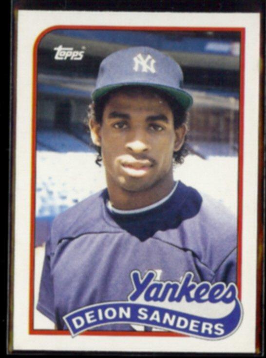 DEION SANDERS 1989 Topps Traded Rookie #110T.  YANKEES