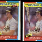 MARK McGWIRE (2) 1987 Fleer Best Odds #26 of 44.  A's - Straight from Sets